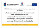 Rozbudowa sortowni surowców wtórnych na terenie PGKiM w Sandomierzu Sp. z o.o.
