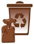 Pojemnik koloru brązowego - odpady biodegradowalne