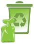 Pojemnik koloru zielonego - szkło