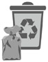 Pojemnik koloru czarnego - odpady zmieszane